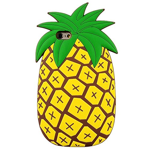 Pineapple iPhone 5 5S 5C SE Case,Awin Vivid 3D Summer Fruit Pineapple Soft Rubber Silicone Phone Case For iPhone 5 5S 5C SE (Pineapple)