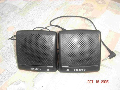 Sony SRS-7 Portable Mini Speakers for Computer IPOD MP3 Player CD Player