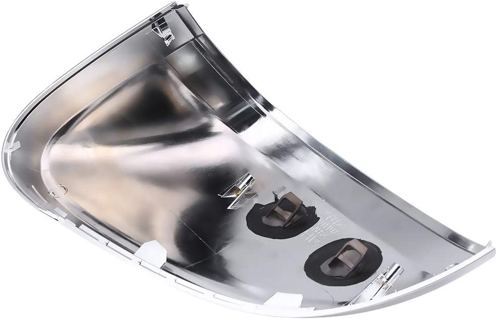 Pair of Matte Chrome Rearview Mirror Shell Cover Protection Cap for Audi B9 A4 A5 S4
