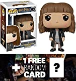 Hermione Granger: Funko POP! x Harry Potter Vinyl Figure + 1 FREE Official Harry Potter Trading Card Bundle [58609]