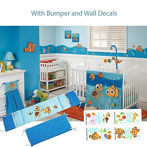 Disney Baby - Finding Nemo 5 Piece Crib Bedding Set W Bumper - Sheets Disney Nemo Finding