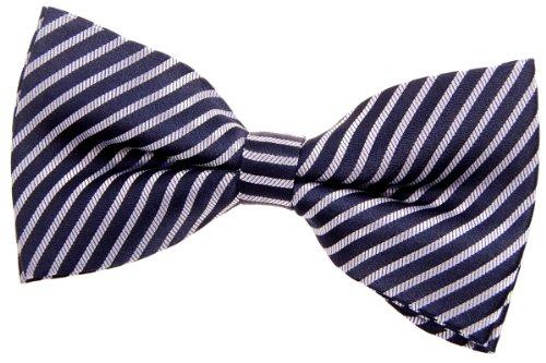 Retreez Modern Stripe Woven Microfiber Pre-tied Bow Tie (5