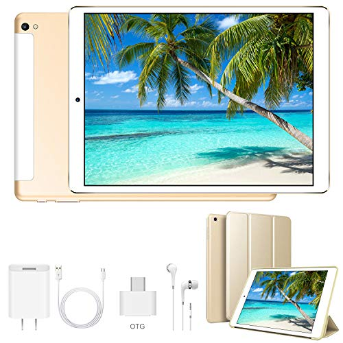 🥇 Tablet 10 Pulgadas Android 9.0 Ultrar-Rápido Tablets 4G Dual SIM / WiFi 3GB RAM 32GB/128GB ROM 8500mAh Batería Quad Core