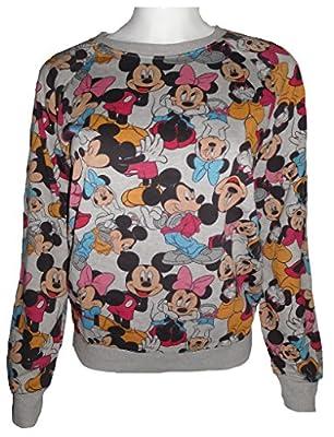 Disney Women's Mickey & Minnie Mouse Lightweight Sweatshirt