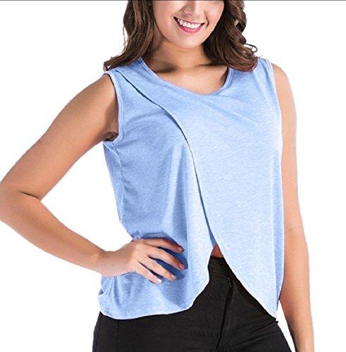 送金奨学金彼女のTootess Women's Cotton Split Comfort Oversized Basic Nursing Camisole