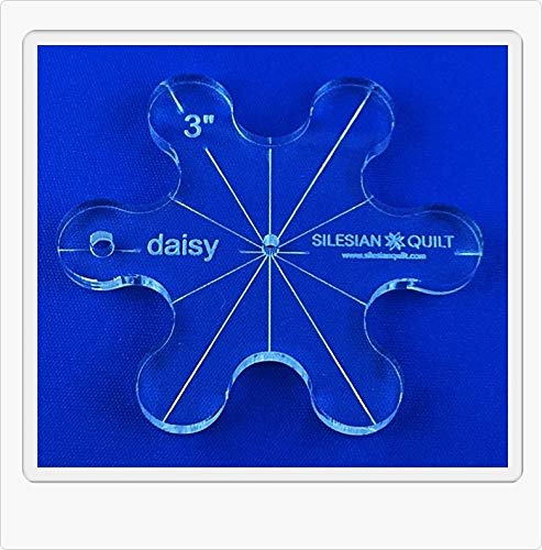 Template for Quilting Daisy 3 inches Silesian Quilt