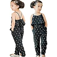 Baby World Kids Girls Harness Heart-shaped Rompers Summer Jumpsuit Clothes 2T(advice 1 years)
