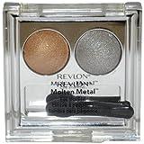 REVLON Gift Set (Luxurious Color Molten Matal Eye Shadow, Silver-gold Women Eye Shadow)