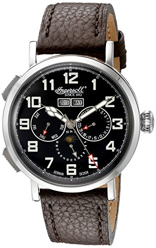 Ingersoll Men's IN1917SBK De Weerd Analog Display Automatic Self Wind Black Watch