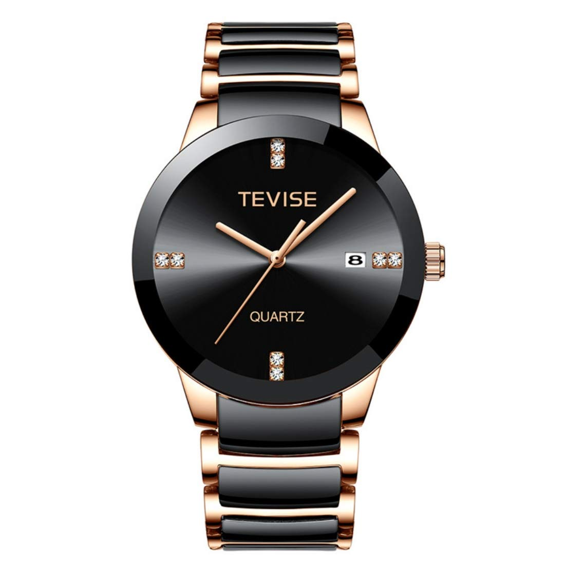 Tevise Ceramic Band Analog Black Watch for Men - 845 (B07WVZPB1N) Amazon Price History, Amazon Price Tracker