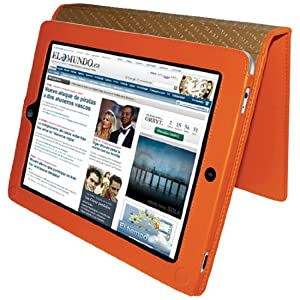 Piel Frama Premium Leather Case with MAGNETIC Closure for the Apple iPad (1st Generation) (Orange) from Piel Frama