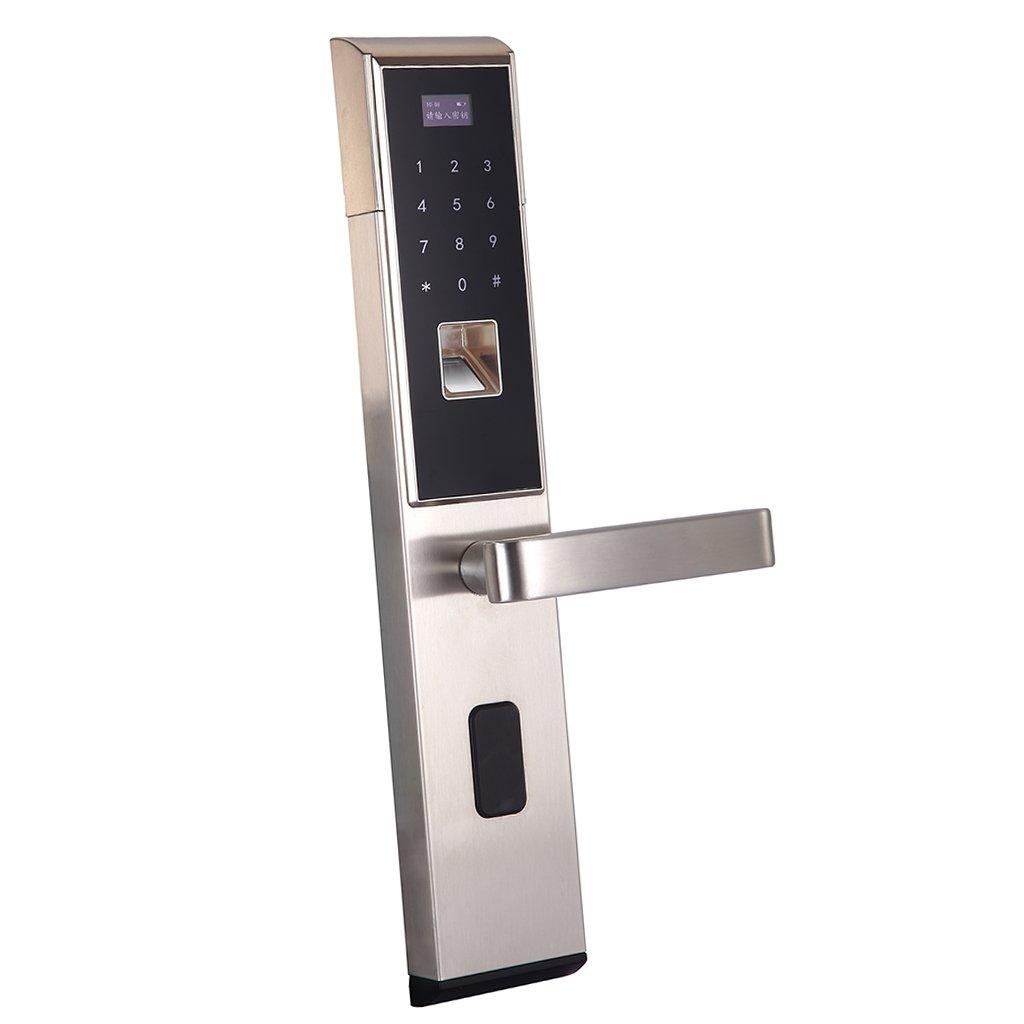 SONONIA スマートバイオメトリック 指紋 キーパッド ドアロック ホーム セキュリティ 全3色 銀 B078PCXJKP 銀 銀