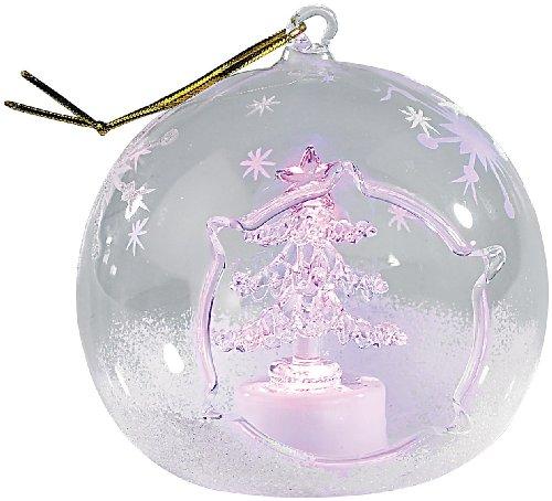 Lunartec Mundgeblasene LED-Glas-Ornamente in Kugelform, 2er-Set