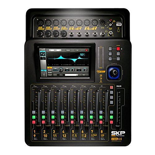 SKP Pro Audio D-Touch 20 Digital Mixing Console Touchscreen WiFi 20-Inputs/16-Bus/8-Outs (Best Tablet Controlled Mixer)