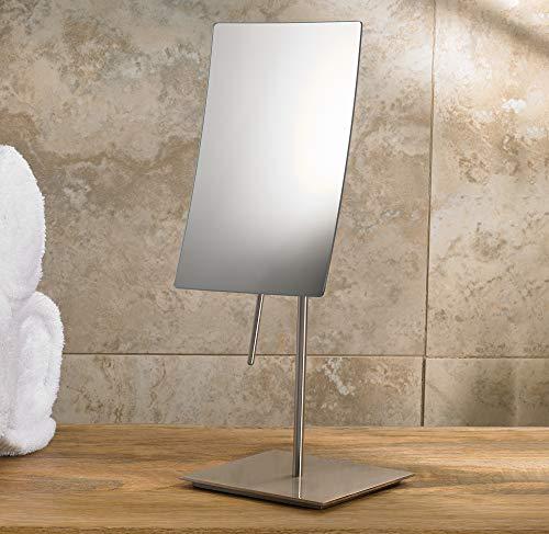 Marriott Minimalist Table-Top Vanity Mirror - Swivel Vanity Mirror with 3x Magnification -