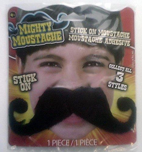 [Black Handlebar Mustache - Peel & Stick] (Villian Costumes)