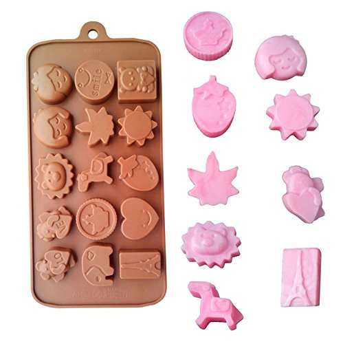 Pizza Cookie Cake - WindGoal 3D Silicone Chocolate Mold Silicone Cake Fondant Cookies Ice Mold Bakeware Baking Tools For Making Homemade Chocolate Peanut Butter Cup Candy Gummy Jelly