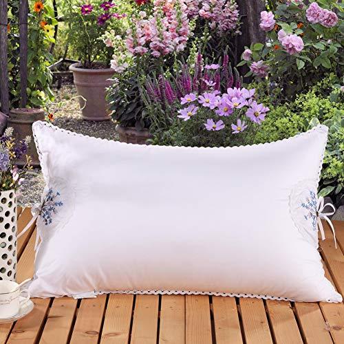 LUOYE Pillow Jane Cotton Lavender Beauty Pillow Feather Velvet Hotel Gift Wholesale Pillow ()