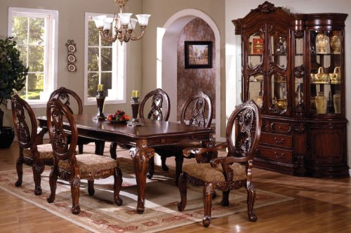 Inland Empire Furniture Tuscany Antique Cherry Solid Wood 7 Piece Formal Dining Set (Room Furniture Dining Tuscany)