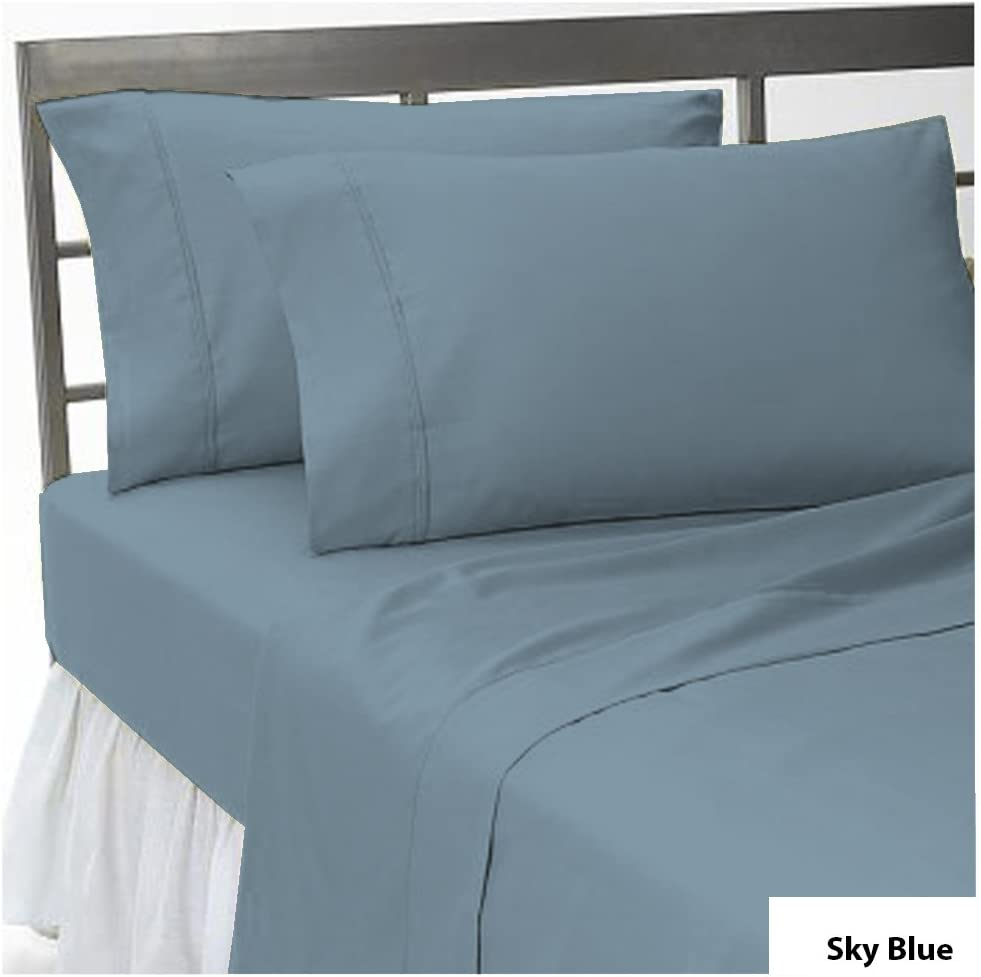 Full XL , White Deep Pocket Solid Pattern All Size /& Color 20cm 1 Fitted Sheet /& 2 Pillow Cases 1200 Thread Count 100/% Egyptian Cotton 8 Inch