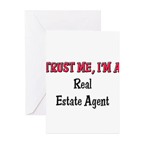 Amazon Com Cafepress Trust Me I M A Real Estate Agent Greeting