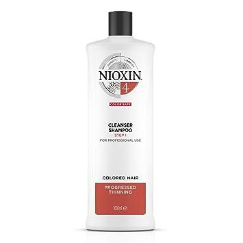 Nioxin Sistema 4 limpiador para cabello fino, tratamiento químico, notablemente adelgazamiento del cabello - 1000 ml/33.8oz: Amazon.es: Belleza