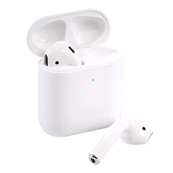 competitive price 681e3 6b8c3 Apple AirPods 2 with Wireless Charging Case - White (Renewed)