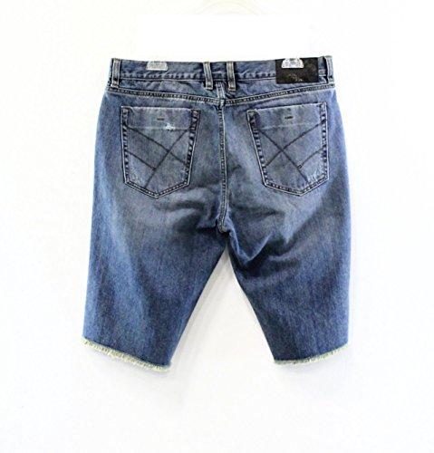 Kenneth Cole Reaction Light Indigo Mens Destructed Denim Shorts