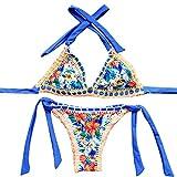 Xiongda's shop Sexy Handmade Crochet Bikini Swimsuit Brazilian Swimwear Bathing Suit