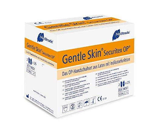Guantes de l/átex quir/úrgicos talla 7, 50 unidades Meditrade 90517 Gentle Skin Securitex
