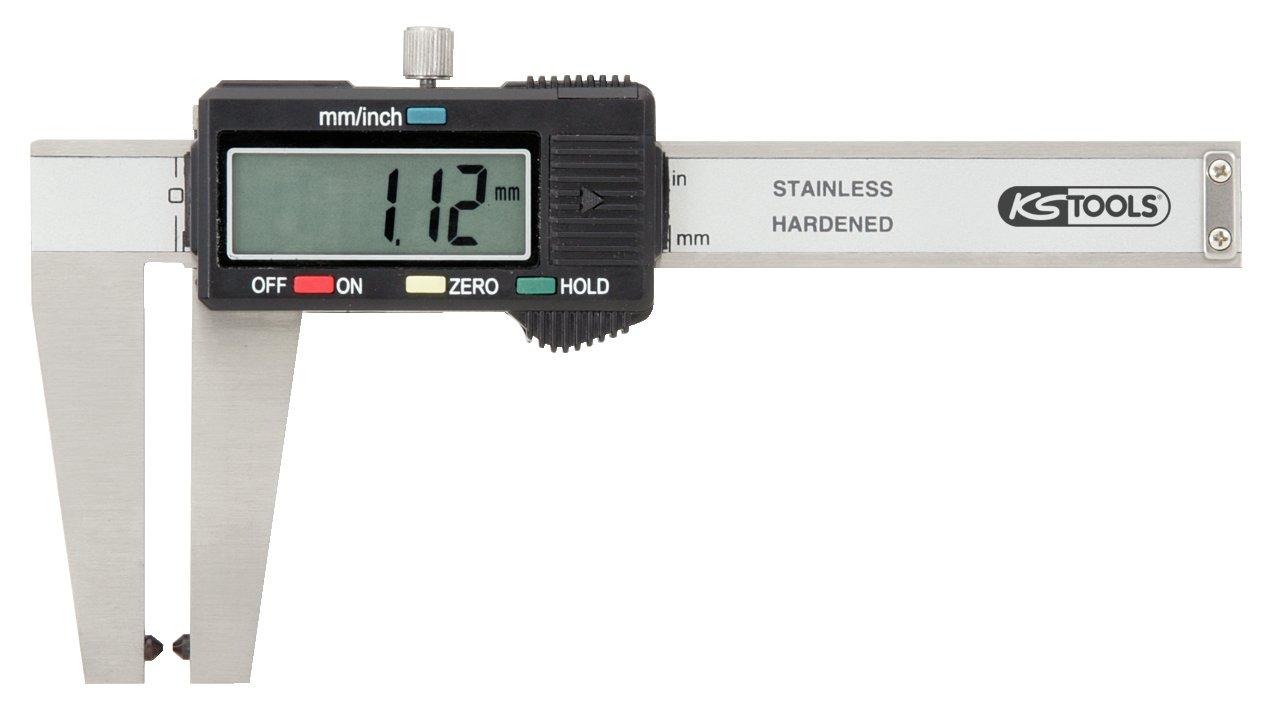 KS Tools 300.0540 Pie de Rey Digital en Caja de plá stico (tamañ o: 160 mm) 4042146162439