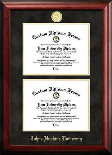Johns Hopkins University Double Degree Diploma Frame (14 X 17)