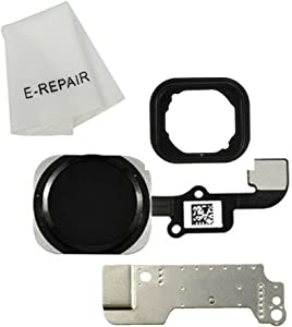 E-REPAIR Home Button Key Flex Cable Assembly with Rubber Ring Replacment Part for iPhone 6 and 6 Plus (Black)