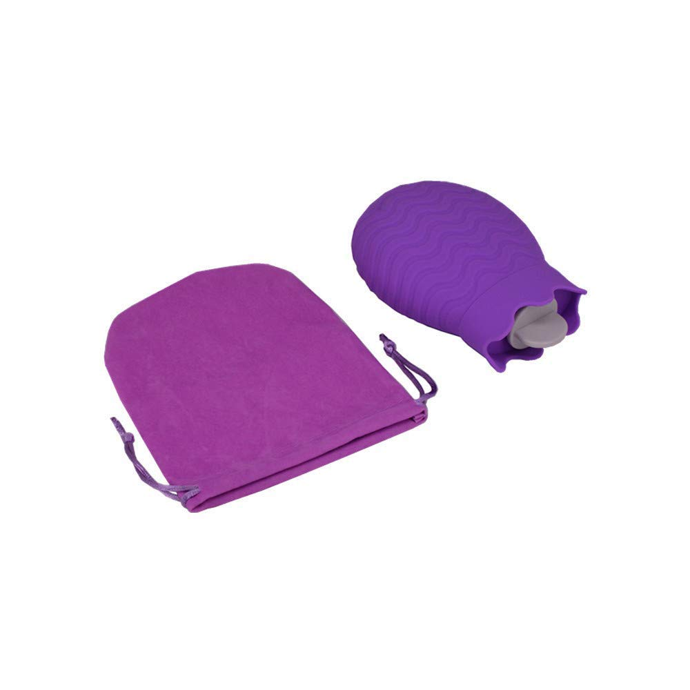 MASiKEN Rubber Hot or Cold Water Bottle -Heating Bottle Water Warm Natural Rubber BPA Free Water Bag for Pain Relief Allow Microwave Heating (Purple)