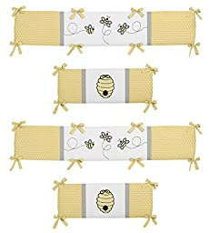 Honey Bee Collection Crib Bumper by Sweet Jojo Designs