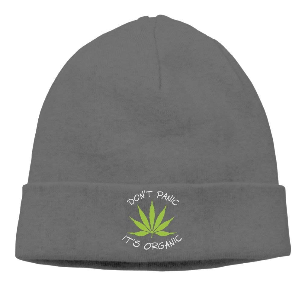 Ustcyla Momens Weed Don't Panic It's Organic Warm Jogging DeepHeather Beanies Caps