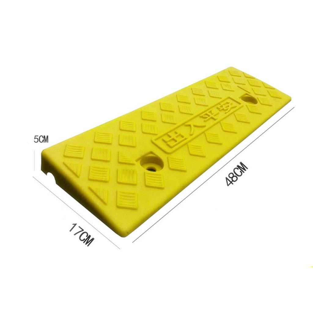 Color : Black, Size : 48 * 15 * 3CM leicht zu tragende Rollstuhlrampen Rollerschwellenrampen rutschfeste Multifunktionsrampen Material Handhabung Rampen ChenB Innenrampen kleine