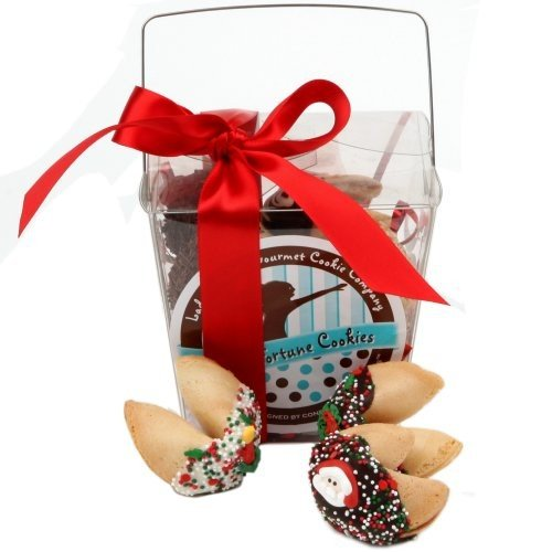 Take Out Pail of 6 Christmas Fortune Cookies
