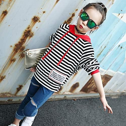 MV Autumn Children Casual Striped Sweatshirt Hooded Sweater Kids Hoodies Clothing