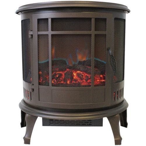 Comfort Glow ES4835 Claremont Bronze Electric Stove with 180 Degree Viewing by Comfort Glow
