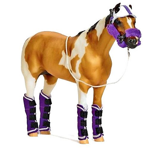 - Breyer Shipping Set - Purple and White