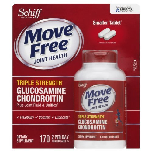 Move Free Advanced Triple Strength, 170 Count (Pack of 3 (170 tabs ea))