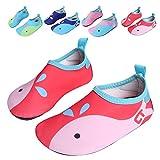 L-RUN Unisex Flexible Aqua Water Shoes Barefoot For Beach Pool Surf Yoga Exercise Red 11-11.5=EU 28-29
