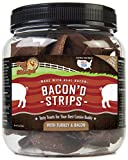 Pet 'n Shape 12532 Bacon'd Strips with Turkey and Bacon Dog Treats Tub, 16 oz/1 lb