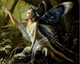 fairy paint by number - JynXos DIY Paint By Number 16 X 20 Kit Beauty Butterfly Fairy 2 Without Wooden Frame