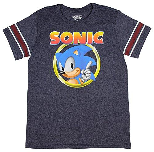 Bioworld Sonic The Hedgehog Shirt Mens Golden Ring Logo Foot
