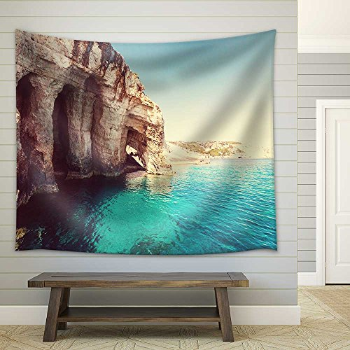 Beautiful Sea Landscapes on Zakynthos Island in Greece Fabric Wall