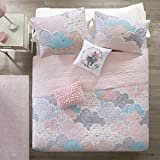 Urban Habitat Kids Cloud Full/Queen Bedding For Girls Quilt Set - Pink, Geometric, Unicorn – 5 Piece Kids Girls Quilts – 100% Cotton Quilt Sets Coverlet