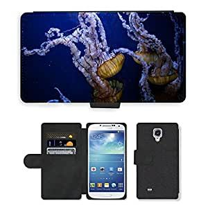 Super Stella Cell Phone Card Slot PU Leather Wallet Case // M00421582 Jellyfish Underwater Ocean Sea // Samsung Galaxy S4 S IV SIV i9500