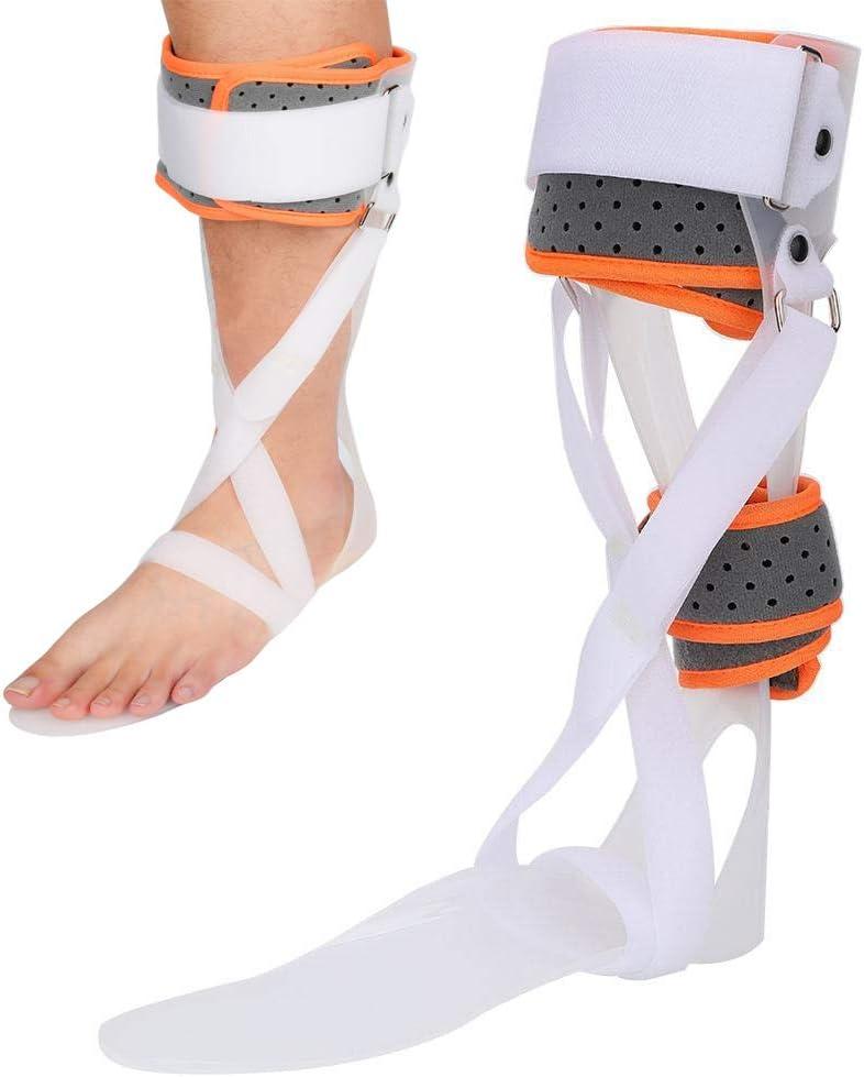 GHzzY Apoyo para la ortesis del pie del Tobillo - Soporte para pie caído con férula AFO para recuperación de Lesiones, Dolor Articular y Movimiento de dorsiflexión,Right,S